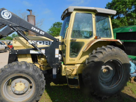 *NOT SOLD* 1993 FORD 7710 4WD W/BUSH HOG LOADER