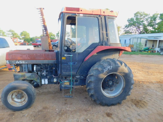 *NOT SOLD*685 CASE IH CAB TRACTOR w/ MOWER ATTACHMENT ON SIDE