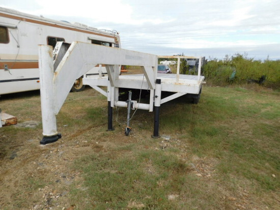*NOT SOLD*WHITE 2 AXLE SHOP MADE TRAILER