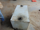 *NOT SOLD* 100 GAL WHITE FUEL TANK