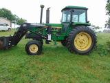*NOT SOLD* JOHN DEERE 4430 FARM TRACTOR W/LOADER POWERSHIFT RECENT ENGINE OVERHAUL