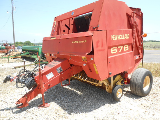 **NOT SOLD**New Holland 678 Round Baler
