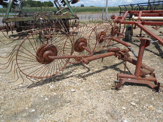 *NOT SOLD* Massey Ferguson (4) wheel (3) point Hay rake