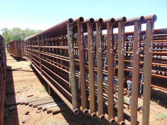 *NOT SOLD* QTY 8 24FT HEAVY DUTY CATTLE PANELS INCLUDED NO GATE
