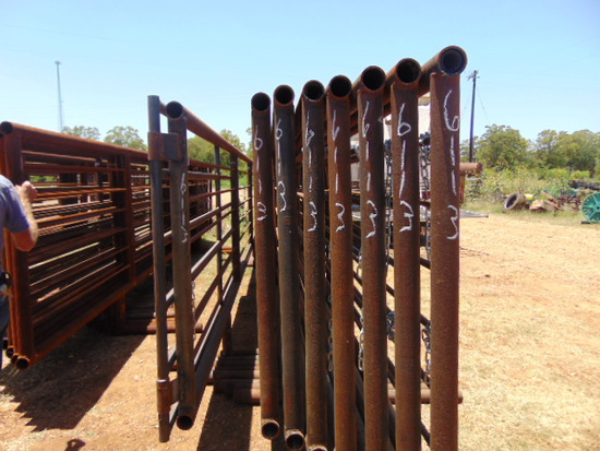 *NOT SOLD* QTY 8 24FT HEAVY DUTY CATTLE PANELS INCLUDED 12FT GATE