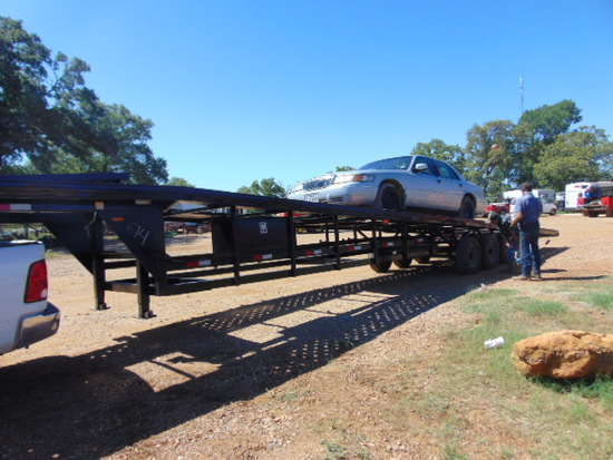 *NOT SOLD* 53' GOOSENECK CAR HAULER HAS TITLE