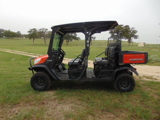 *NOT SOLD* KUBOTA RTV 1140 DIESEL 4 PASSENGER UTILITY VEHICLE