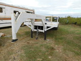 *NOT SOLD* WHITE 2 AXLE SHOP MADE TRAILER