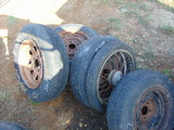 *NOT SOLD* 5 RIMS & TIRES/MOTORCYCLE RIM & TIRE