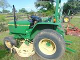 *SOLD* JOHN DEERE 870 TRACTOR  POWER STEERING W/72 IN CUT MOWER 2WD