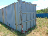 *NOT SOLD* 40' STORAGE CONTAINER CONVERTED TO FEED BUNK