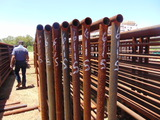 **NOT SOLD* QTY 8 24FT HEAVY DUTY CATTLE PANELS INCLUDED 6FT GATE