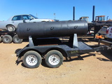 *NOT SOLD* 10' BBQ PIT ON TRAILER