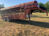 *NOT SOLD 16 FT GOOSENECK STYLE CATTLE TRAILER/ UPDATE/ TRAILER HAS NOW BEEN PAINTED/ SEE ADDED PICS