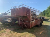 *NOT SOLD* SHOP MADE GOOSENECK STYLE CATTLE TRAILER