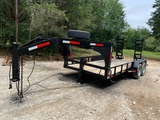 *NOT SOLD* 16 FT GOOSE NECK STYLE RAIL TOP TRAILER