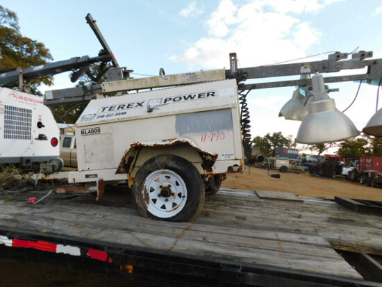 *NOT SOLD* Terex Power Light Tower (Salvage)