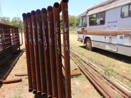 QTY 8 24FT HEAVY DUTY CATTLE PANELS INCLUDED NO GATE