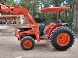 *NOT SOLD*KUBOTA 3710 DIESEL FARM TRACTOR & LOADER 4 X 4