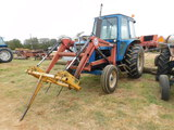 *SOLD*Ford 5600 W/2400QT bush hog loader