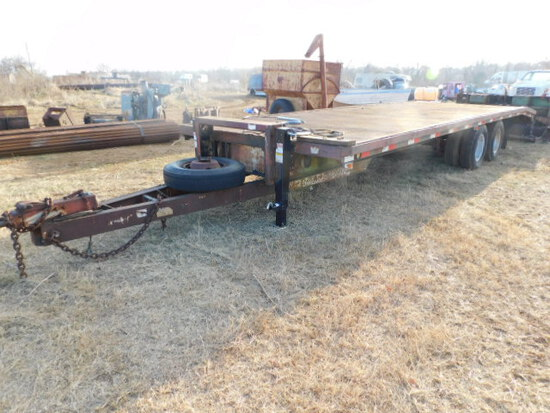 *SOLD*  Tandem Dual Pintle Hitch Trailer