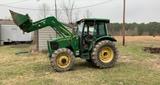 *NOT SOLD* JOHN DEERE 5525  4X4 DIESEL FARM TRACTOR w/ LOADER V