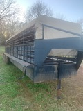 *NOT SOLD**TITLE PROBLEM/ NO SALE*****CATTLE TRAILER w/ CANVASS TOP