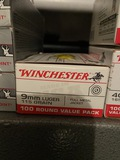 *NOT SOLD*WINCHESTER 9MM 115 GRAIN AMMO 100 ROUNDS 1 BOX
