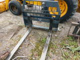 *NOT SOLD* HEAVY DUTY PALLET FORKS SKID STEER ATTACHMENT