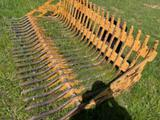 *SOLD* HEAVY DUTY 7FT ROCK RAKE QUICK CONNECT