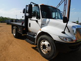 *SOLD* 2010 INTERNATIONAL FLAT BED TRUCK WITH BOOM