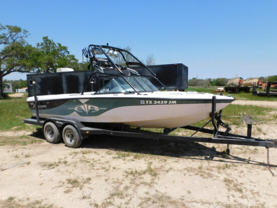 *NOT SOLD*NAUTIQUE SKI BOAT WITH INNOARD AND TRAILER