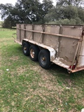 *NOT SOLD*3 AXLE BP TRAILER WITH SIDES