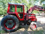 NOT SOLD 1085 MASSEY FERGUSON DIESEL TRACTOR WITH LOADER CAB N AIR, REAR HYDRAULICS, 3PTO