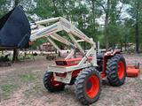 *NOT SOLD*4X4 80 HP DIESEL TRACTOR WITH LOADER APP 2000 HRS (SHREDDER SOLD SEPERATE)