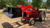 SOLD 454 INTERNATIONAL DIESEL TRACTOR WITH LOADER DRIVES GOOD