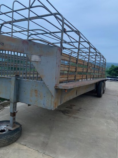 *NOT SOLD*24FT BOWTOP STOCK TRAILER