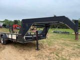 *NOT SOLD*16FT GOOSENECK FLATBED TRAILER WITH RAMPS