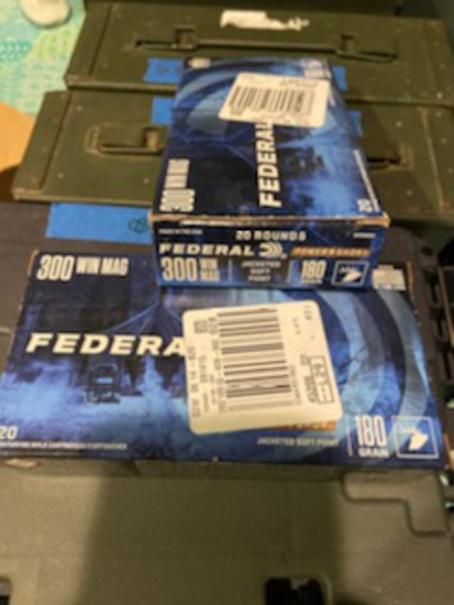 *NOT SOLD*FEDERAL 300 WIN MAG AMMO 2 BOXES
