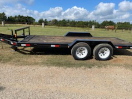 *SOLD* 16 ft car hauler heavy duty built  registered trailer