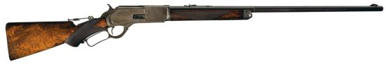 Scarce, Special Order, Winchester Deluxe Model 1876 Lever Action Rifle with Factory Letter