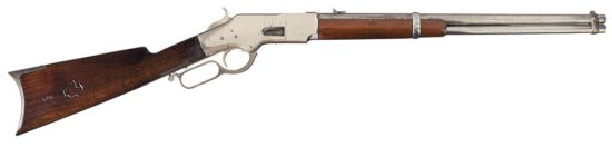 Inscribed Winchester Third Model 1866 Saddle Ring Carbine with Nickel-Plated Finish