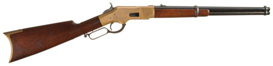 Fine Winchester Model 1866 Lever Action Saddle Ring Carbine