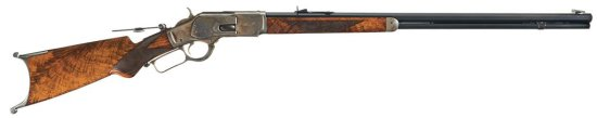 Extremely Rare Factory Documented Special Order, Winchester Deluxe Model 1873 Lever Action Rifle wit