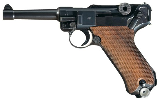 Late Production/Assembly Undated Mauser Banner Commercial Contract Semi-Automatic Luger Pistol