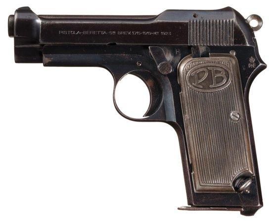 Italian Pietro Beretta Military Inspected Model 1923 Semi-Automatic Pistol with Holster