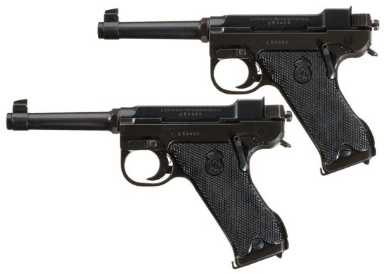 Collector's Lot of Two Consecutively Numbered Swedish Husqvarna Lahti Model 40 Semi-Automatic Pistol