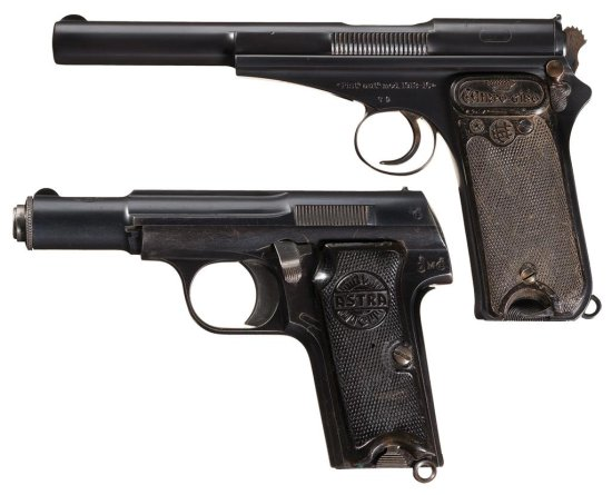 Two Spanish Semi-Automatic Pistols -A) Scarce Early Production Campo Giro Model 1913-1916 Serial Num
