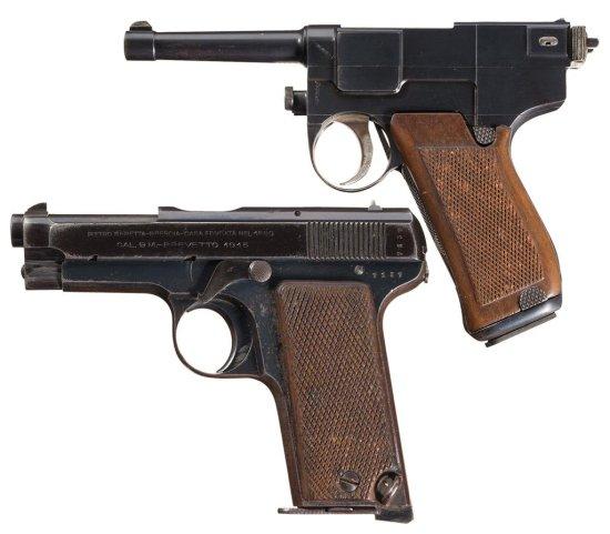 Two Italian Military Semi-Automatic Pistols -A) Glisenti Model 1910 Pistol