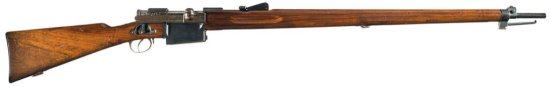 Historically Significant Swiss Model 1894 Type IIB Experimental Mondragon Rifle in Rare 5.2 X 68 mm